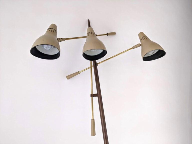 Mid-20th Century 1950s Gerald Thurston Triennale Floor Lamp for Lightolier, USA For Sale