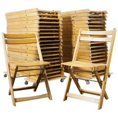 1950s German Beech Folding Dining Chairs, Various Quantities Available