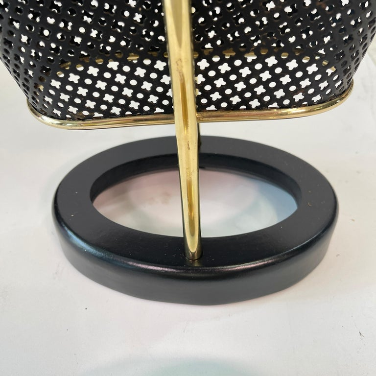 1950's German Brass and Perforated Metal Umbrella Stand For Sale 8