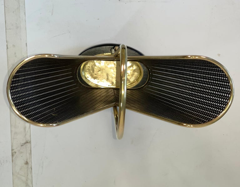 1950's German Brass and Perforated Metal Umbrella Stand For Sale 2