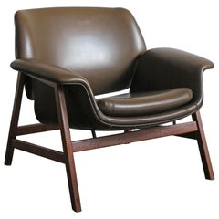 1950s Gianfranco Frattini Italian Midcentury Armchair Model 849 for Cassina