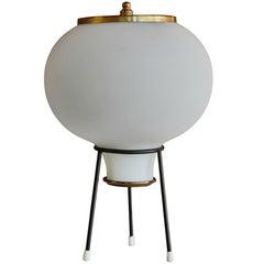 1950s Gilardi & Barzaghi Glass Tripod Table Lamp