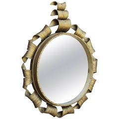 1950s Gilded Forged Iron Mirror