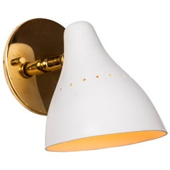 1950s Gino Sarfatti White Articulating Sconce for Arteluce