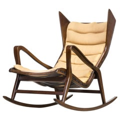 1950s Gio Ponti Model 572 Rocking Chair for Cassina