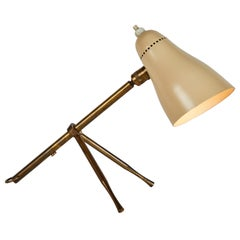 "1950s Giuseppe Ostuni ""Ochetta"" Wall or Table Lamp for O-Luce"