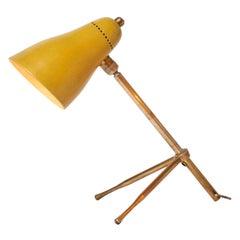 "1950s Giuseppe Ostuni ""Ochetta"" Yellow Wall or Table Lamp for O-Luce"