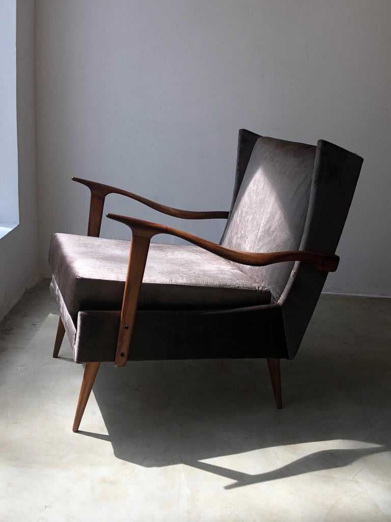 1950's Giuseppe Scapinelli Pair of Armchairs In Good Condition For Sale In Sao Paulo, SP