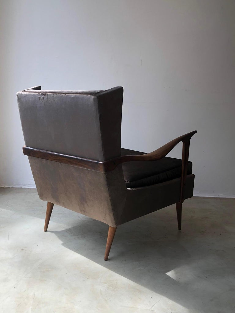 20th Century 1950's Giuseppe Scapinelli Pair of Armchairs For Sale