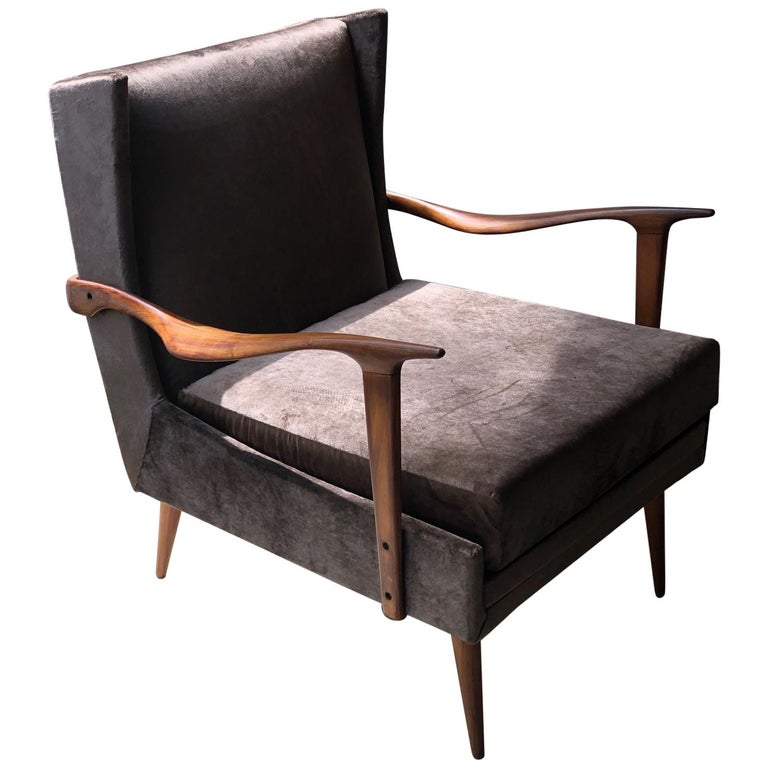 1950's Giuseppe Scapinelli Pair of Armchairs For Sale