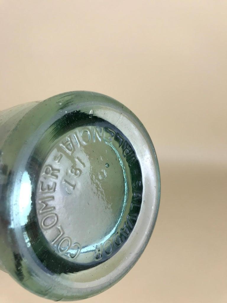 1950s Glass Italian Soda Syphon Seltzer Bitter Campari Advertising Bar Bottle For Sale 7