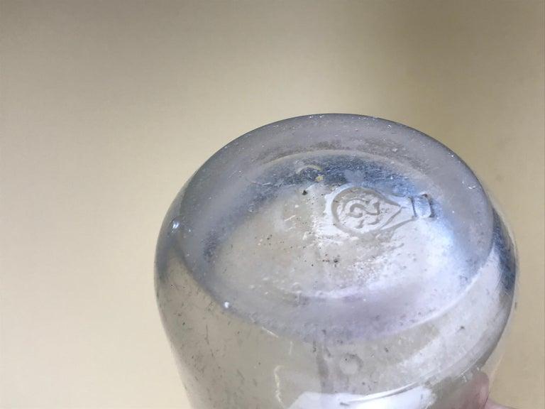 1950s Glass Italian Soda Syphon Seltzer Logo Campari Soda 1/2 Liter Bar Bottle For Sale 3