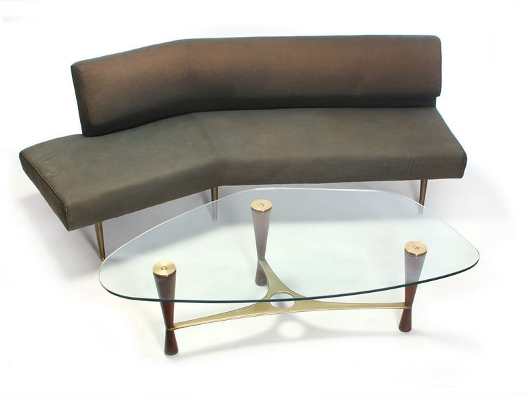 Mid-Century Modern 1950s Glass Model '5309' Cocktail Table by Edward Wormley for Dunbar For Sale