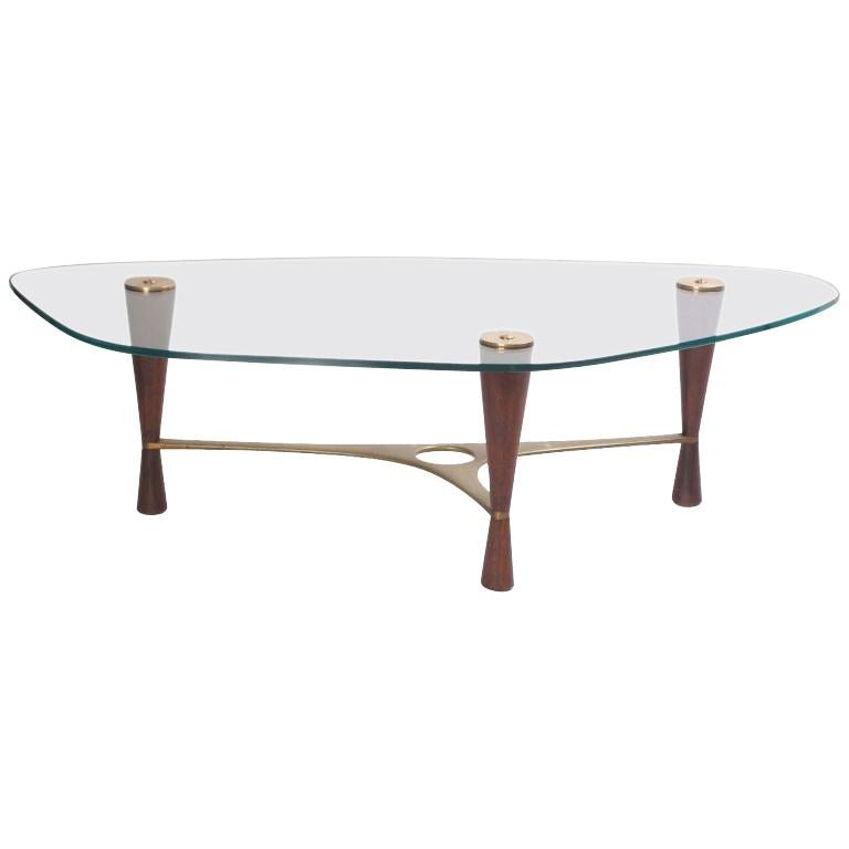 1950s Glass Model '5309' Cocktail Table by Edward Wormley for Dunbar For Sale