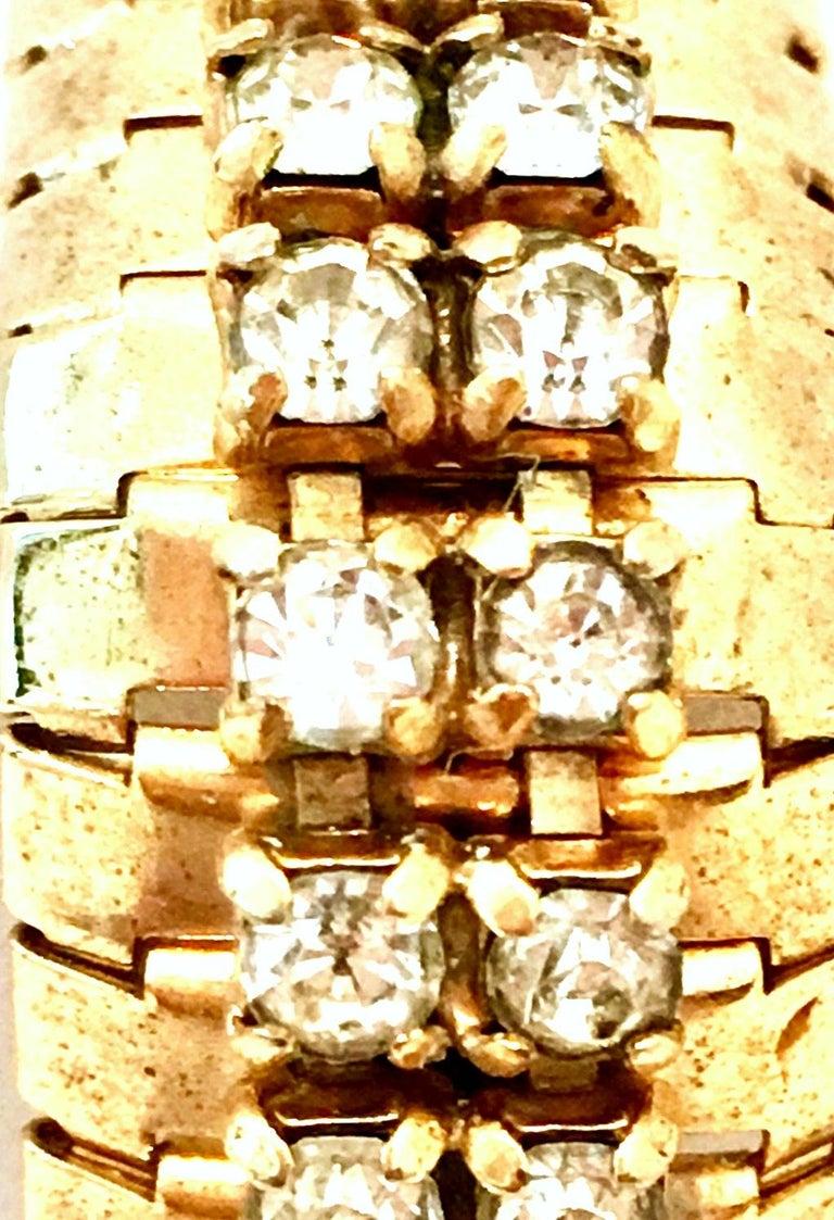 1950'S Gol & Swarovski Crystal Rhinestone Link Bracelet By, Jewels By Julio For Sale 4