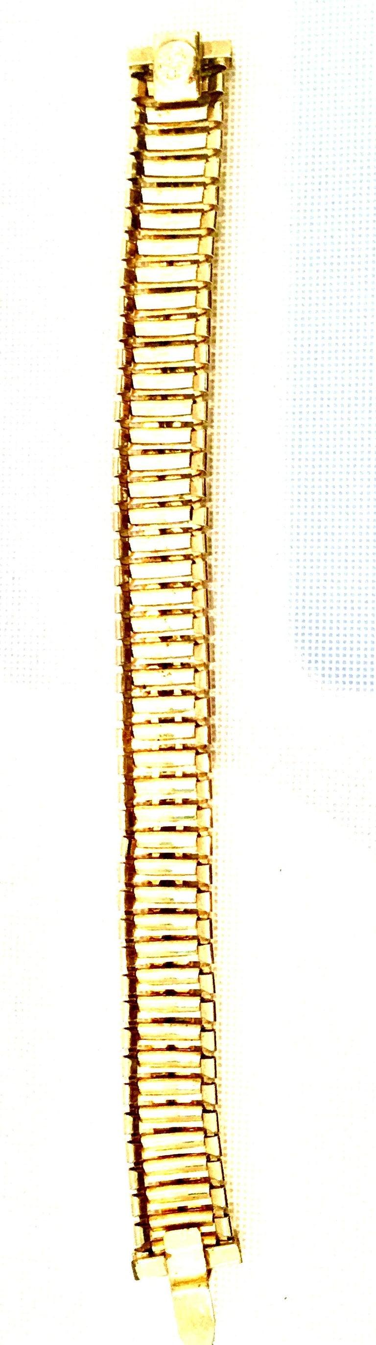 1950'S Gol & Swarovski Crystal Rhinestone Link Bracelet By, Jewels By Julio For Sale 5