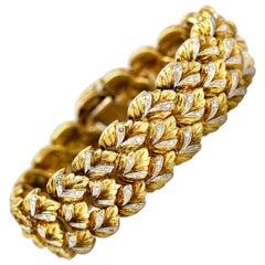 1950s Gold Diamond Bracelet