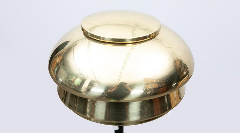 Mid-20th Century 1950s Golden Brass Floor Lamp by Alvar Alalto For Sale