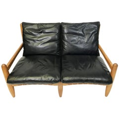 Monumental Carved Oak Leather Sofa At 1stdibs
