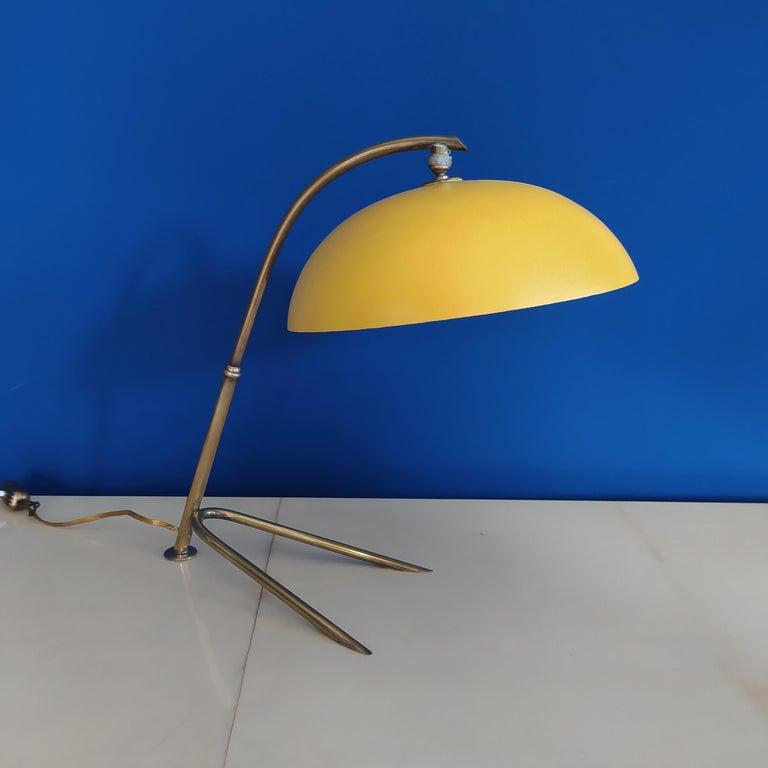 1950s gorgeous table lamp by Stilnovo.