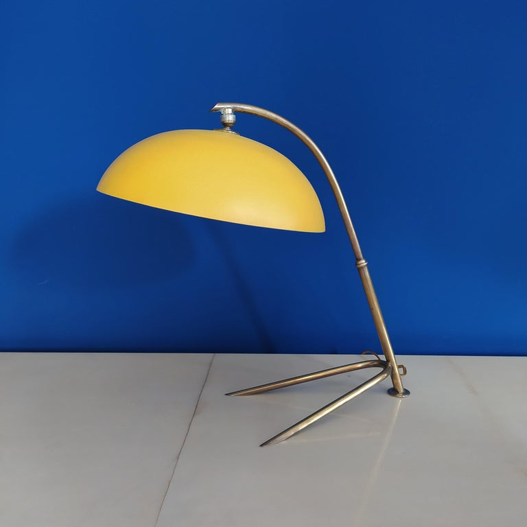Mid-Century Modern 1950s Gorgeous Table Lamp by Stilnovo For Sale