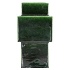 1950s Green Ceramic Vase by Ettore Sottsass 'h'