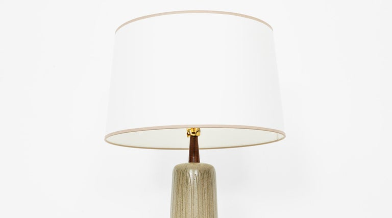 Mid-Century Modern 1950s Grey and Beige Table Lamp by Jane & Gordon Martz 'd' For Sale