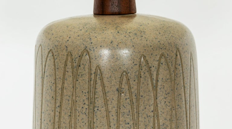1950s Grey and Beige Table Lamp by Jane & Gordon Martz 'd' For Sale 1