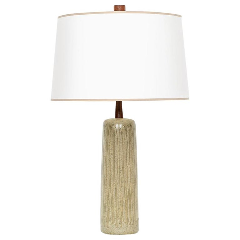 1950s Grey and Beige Table Lamp by Jane & Gordon Martz 'd' For Sale