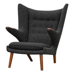 1950s Grey Papa Bear Chair by Hans Wegner 'h'