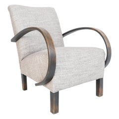 1950s Grey Upholstered Armchair