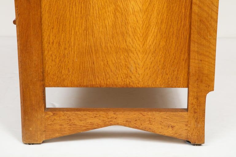 1950s Guillerme & Chambron Solid French Oak Chest of Drawers and Secretary For Sale 9