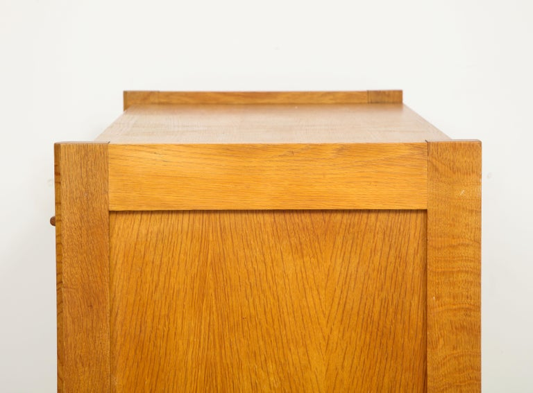 1950s Guillerme & Chambron Solid French Oak Chest of Drawers and Secretary For Sale 4