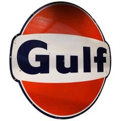 1950s Gulf Oil Vintage Metal Sign