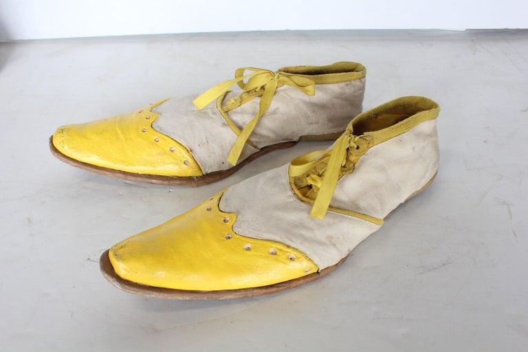 Folk Art 1950s Hand Made Clown Shoes For Sale