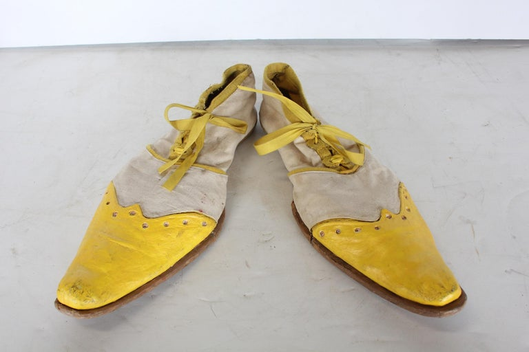 American 1950s Hand Made Clown Shoes For Sale
