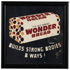1950s Hand Painted Advertising Wonder Bread Pop Art