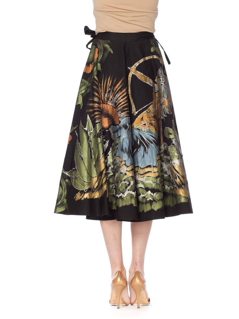 Women's 1950s Hand-Painted Mexican Circle Skirt For Sale