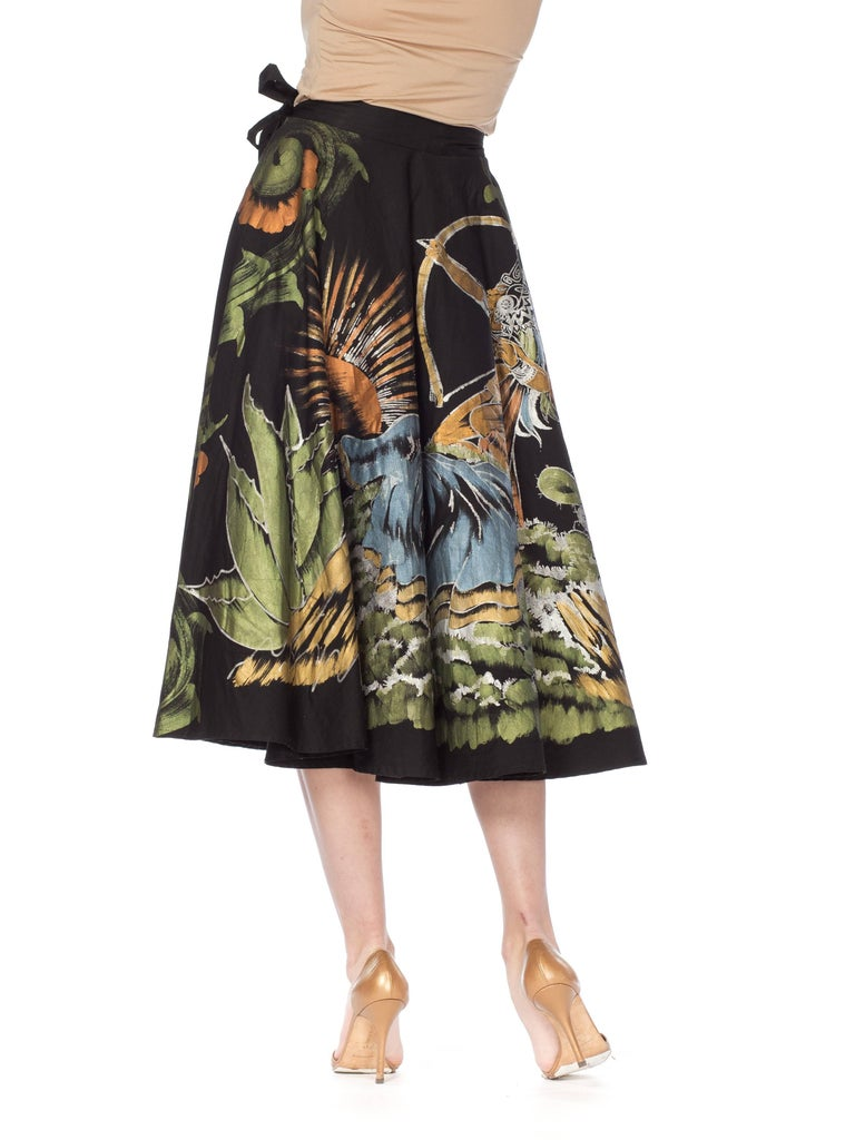1950s Hand-Painted Mexican Circle Skirt For Sale 1