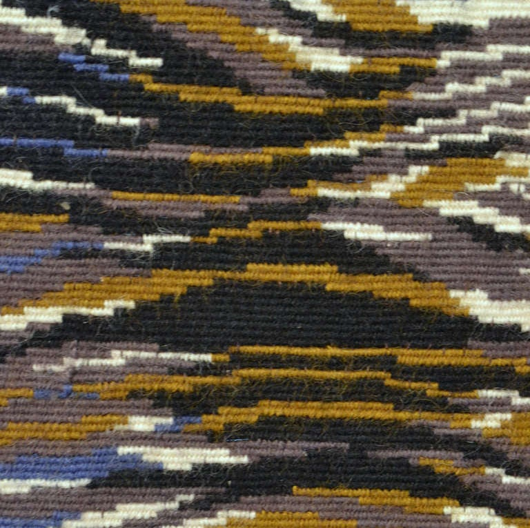 Wool French Tapestry  by Marc Saint Saens Hand Woven 1950's  For Sale