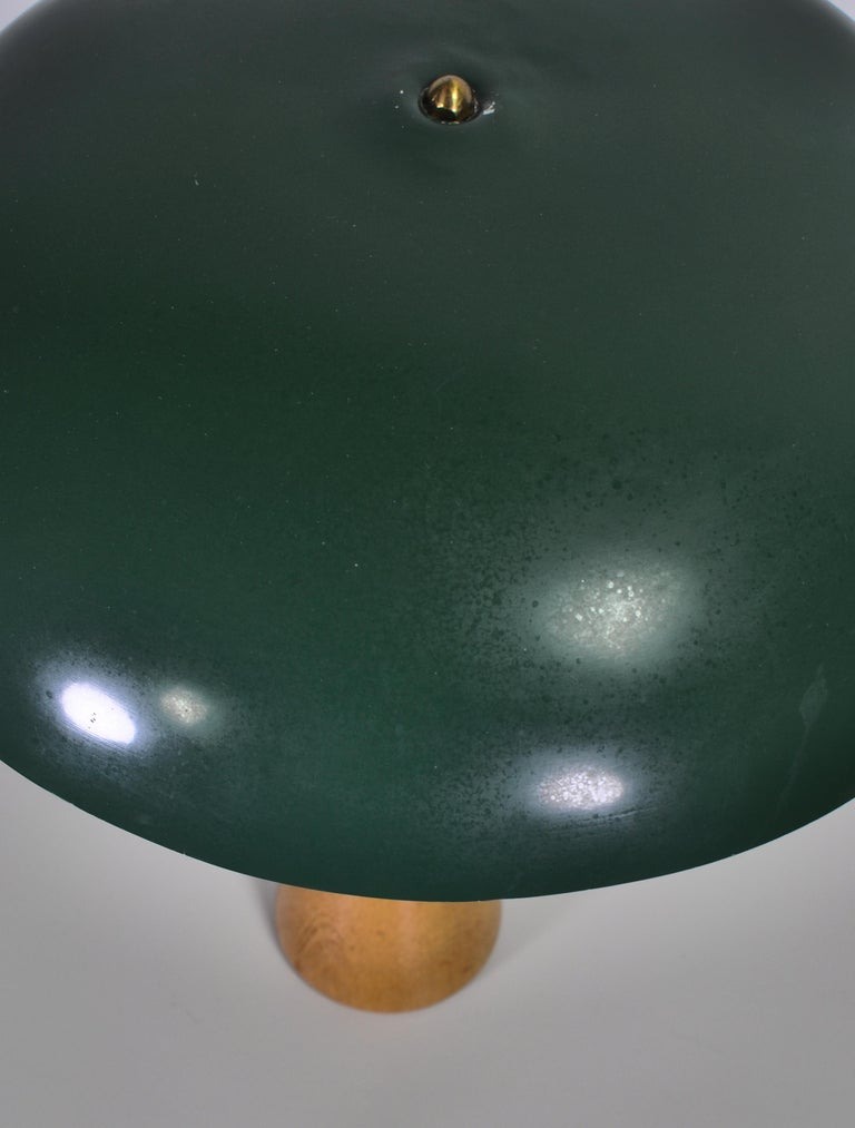 1950s Hans Bergström Table Lamp with Green Shade Made by ASEA, Sweden For Sale 6
