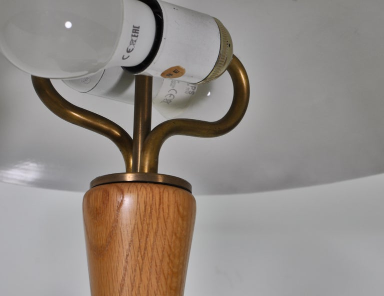 1950s Hans Bergström Table Lamp with Green Shade Made by ASEA, Sweden For Sale 1