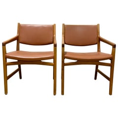 1950s Hans Wegner Custom Chairs for Magasin Du Nord, a Pair
