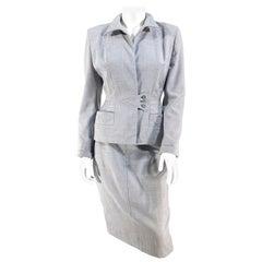 1950s Heather Grey Wool Suit