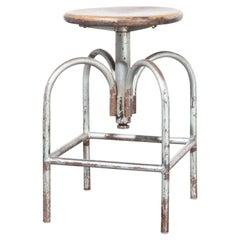 1950s Heliolithe Industrial Swivelling Stool, Model 1