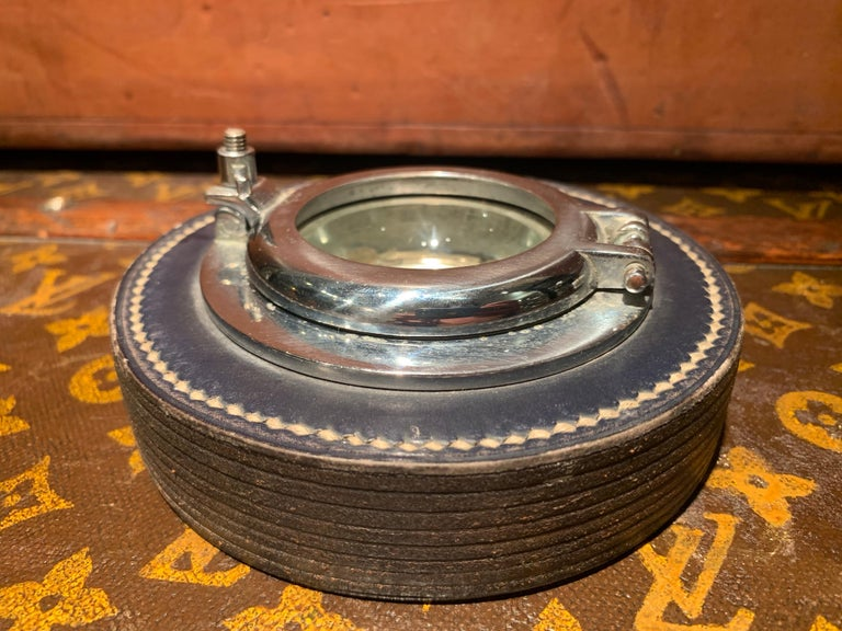 Rare 1950s Hermès ashtray in the shape of a small porthole, designed by Paul Dupré-Lafon (1900-1971)