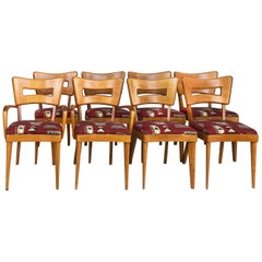 "1950s Heywood-Wakefield ""Dog Biscuit"" Dining Chairs, Set of 8"