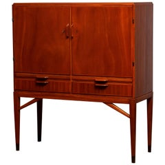 1950s, High Quality Mahogany Dry Bar / Cabinet Made by Marbo Sweden, SMI Labeled