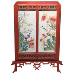 1950s Hollywood Regency Chinoiserie Framed Korean Painting