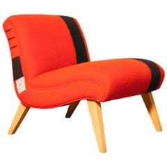 1950s Hudson's Bay Blanket Upholstered Slipper Chair